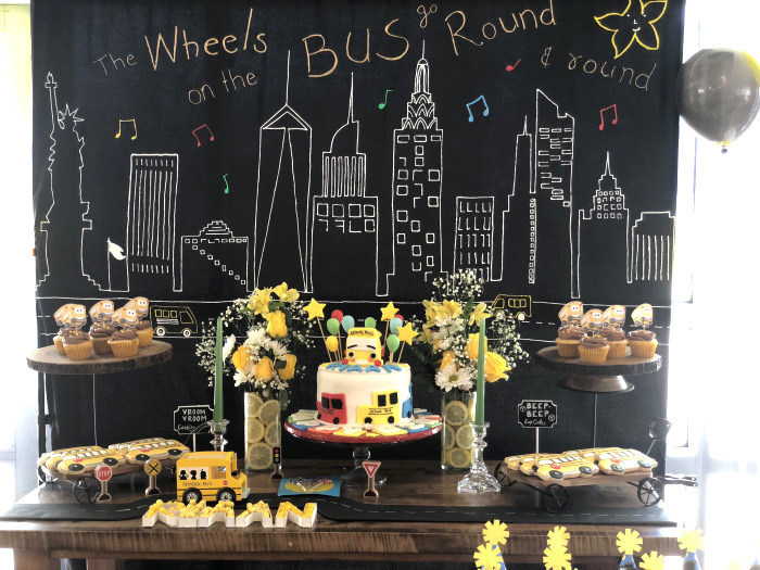 Bus Themed Dessert Table from a Wheels on the Bus Birthday Party on Kara's Party Ideas | KarasPartyIdeas.com (10)
