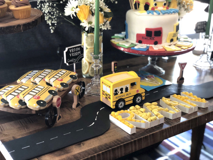 Bus Themed Dessert Table from a Wheels on the Bus Birthday Party on Kara's Party Ideas | KarasPartyIdeas.com (8)