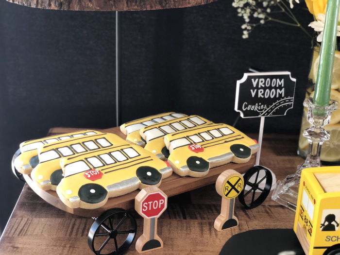 School Bus Sugar Cookies from a Wheels on the Bus Birthday Party on Kara's Party Ideas | KarasPartyIdeas.com (21)