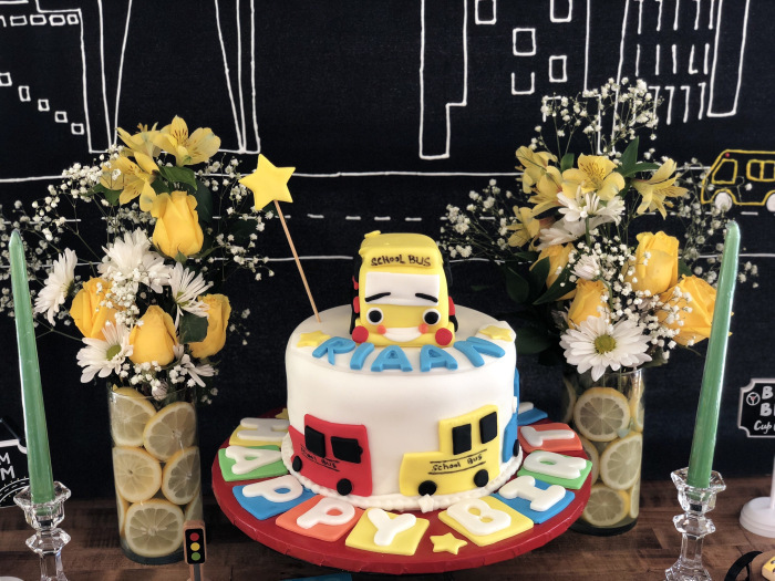 Bus Themed Cake from a Wheels on the Bus Birthday Party on Kara's Party Ideas | KarasPartyIdeas.com (20)