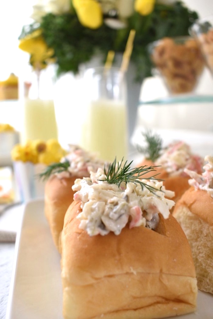 Seafood Sandwiches from a Whimsical Under the Sea Soiree on Kara's Party Ideas | KarasPartyIdeas.com (5)