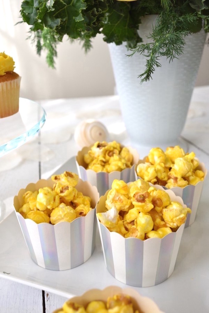 Popcorn Cups from a Whimsical Under the Sea Soiree on Kara's Party Ideas | KarasPartyIdeas.com (15)