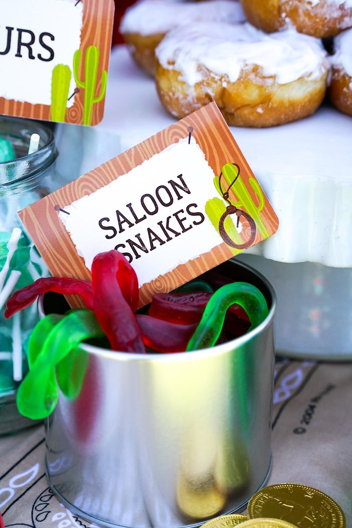Saloon Snakes from a Wild West Cowboy Party on Kara's Party Ideas | KarasPartyIdeas.com (15)