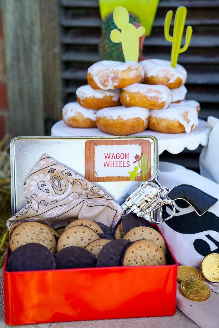 Wagon Wheel Crackers from a Wild West Cowboy Party on Kara's Party Ideas | KarasPartyIdeas.com (13)