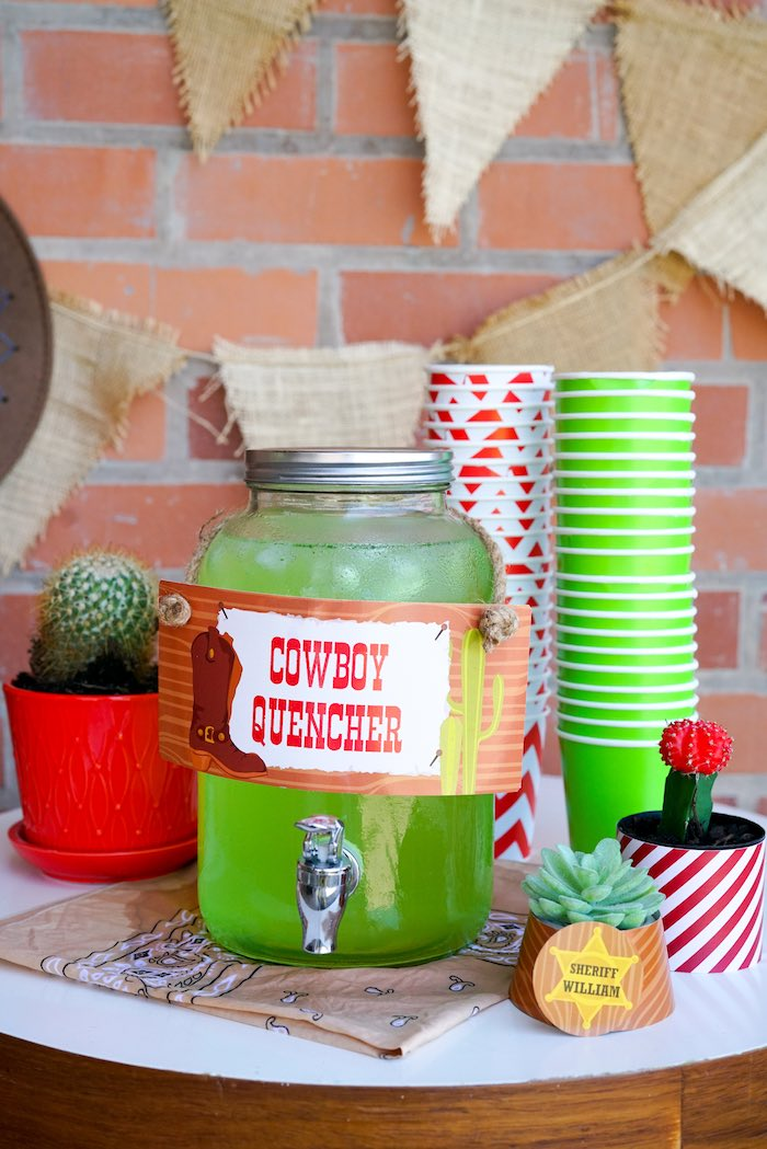 Cowboy Quencher Beverage from a Wild West Cowboy Party on Kara's Party Ideas | KarasPartyIdeas.com (7)