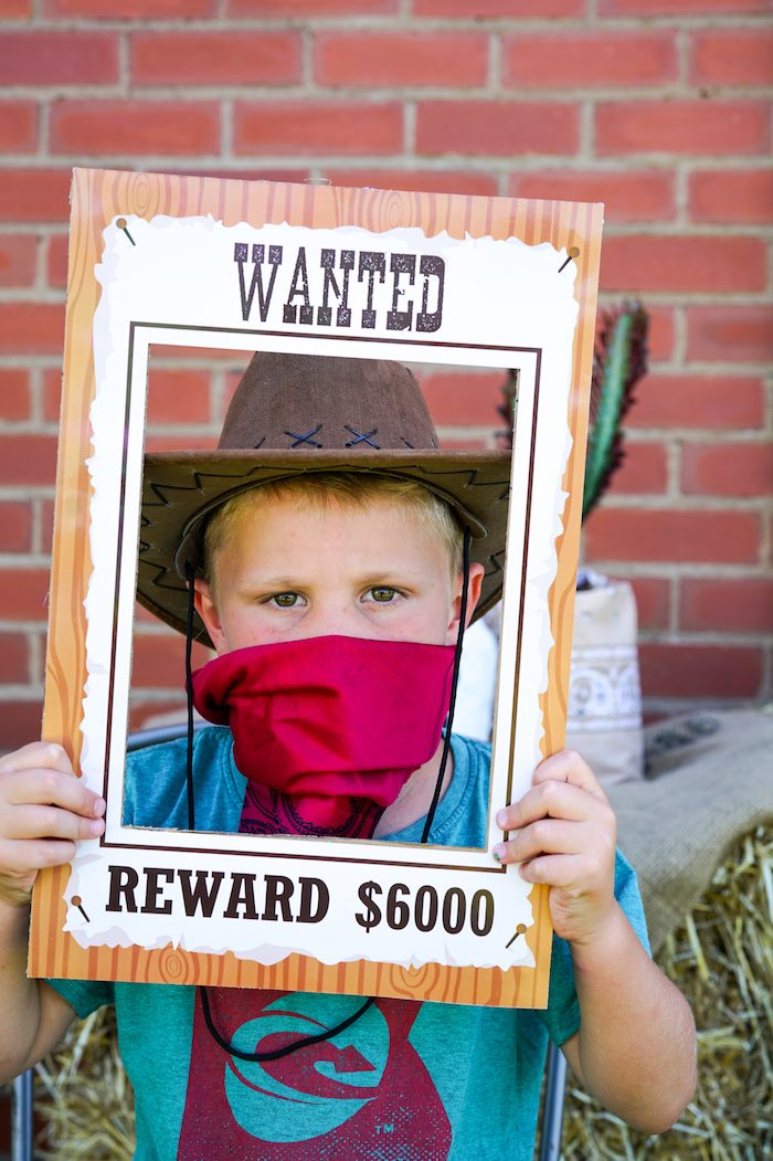 Wanted Poster Photo Frame from a Wild West Cowboy Party on Kara's Party Ideas | KarasPartyIdeas.com (5)