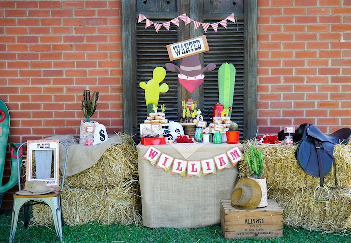 Wild West Dessert Table from a Wild West Cowboy Party on Kara's Party Ideas | KarasPartyIdeas.com (4)