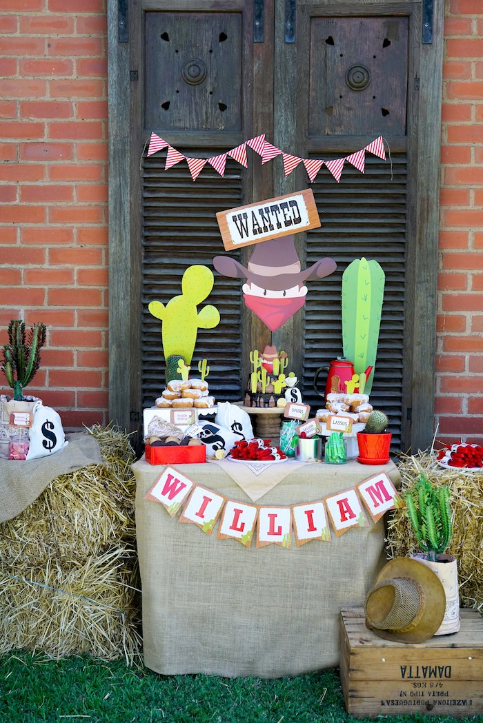 Western Themed Dessert Table from a Wild West Cowboy Party on Kara's Party Ideas | KarasPartyIdeas.com (21)