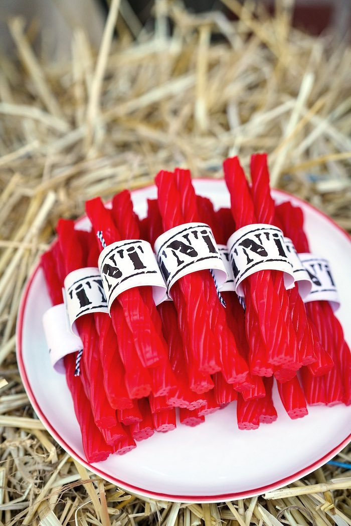 TNT Licorice from a Wild West Cowboy Party on Kara's Party Ideas | KarasPartyIdeas.com (20)