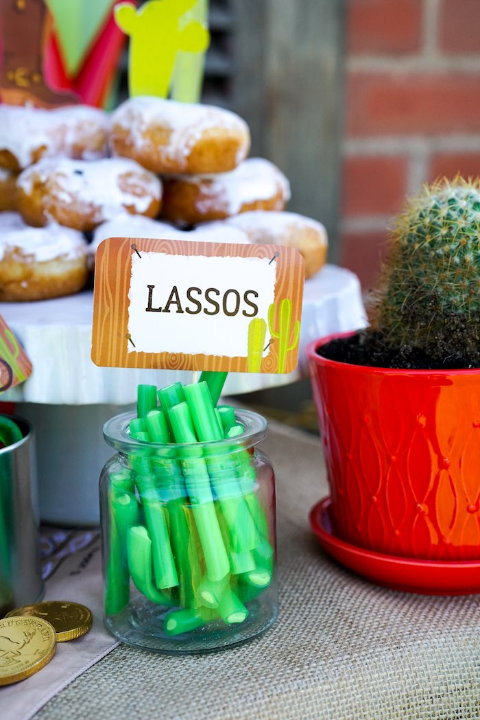 Lasso Candy Ropes from a Wild West Cowboy Party on Kara's Party Ideas | KarasPartyIdeas.com (16)