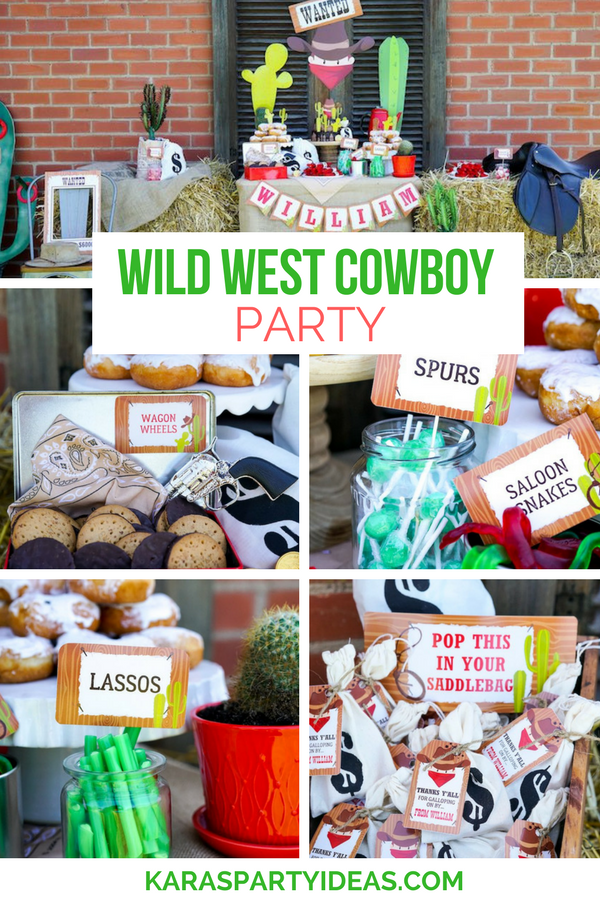 Wild West Cowboy Party via Kara's Party Ideas - KarasPartyIdeas.com