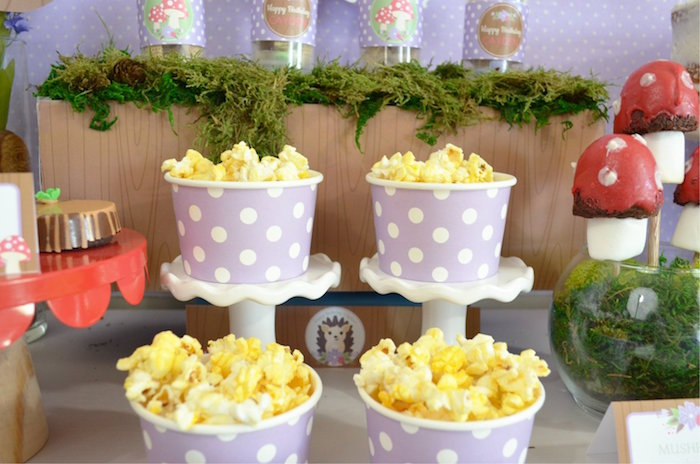 Polka Dot Popcorn Cups from a Woodland Hedgehog Birthday Party on Kara's Party Ideas | KarasPartyIdeas.com (22)
