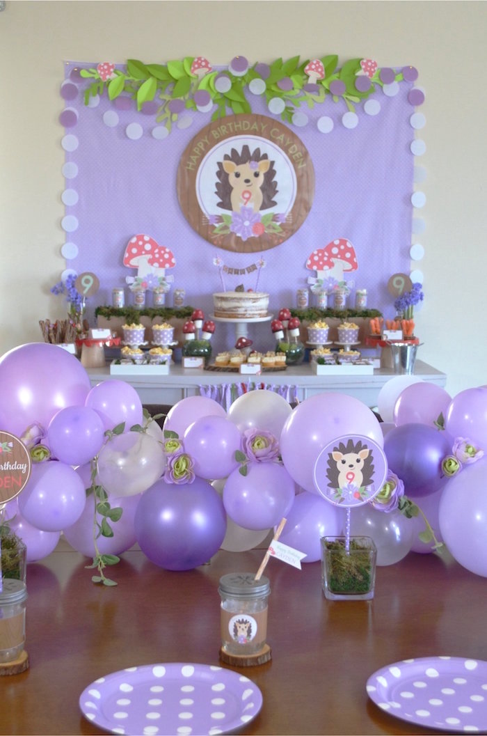 Woodland Hedgehog Birthday Party on Kara's Party Ideas | KarasPartyIdeas.com (20)