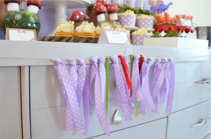 Fabric Tassel Garland from a Woodland Hedgehog Birthday Party on Kara's Party Ideas | KarasPartyIdeas.com (31)