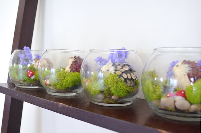 Hedgehog Terrarium Favors from a Woodland Hedgehog Birthday Party on Kara's Party Ideas | KarasPartyIdeas.com (12)