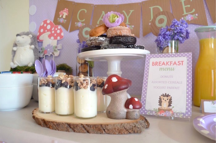 Woodland Yogurt Cups from a Woodland Hedgehog Birthday Party on Kara's Party Ideas | KarasPartyIdeas.com (9)