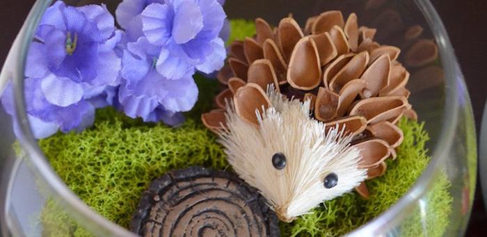 Woodland Hedgehog Birthday Party on Kara's Party Ideas | KarasPartyIdeas.com (3)