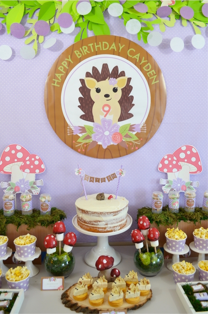 Woodland Hedgehog Birthday Party on Kara's Party Ideas | KarasPartyIdeas.com (29)