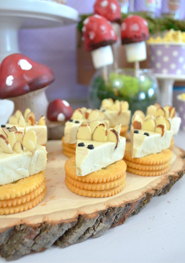 Cheese & Cracker Mice from a Woodland Hedgehog Birthday Party on Kara's Party Ideas | KarasPartyIdeas.com (24)