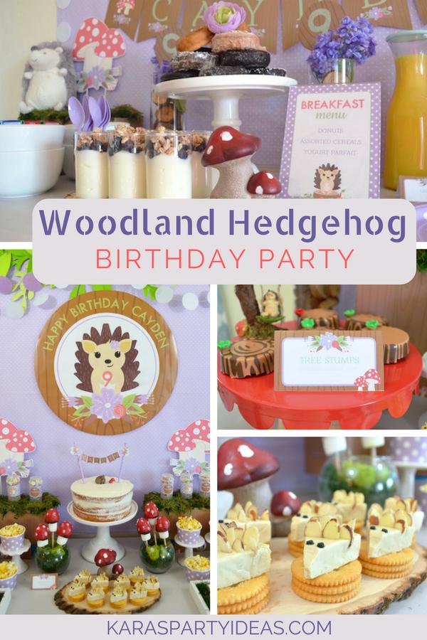 Woodland Hedgehog Birthday Party via Kara's Party Ideas - KarasPartyIdeas.com