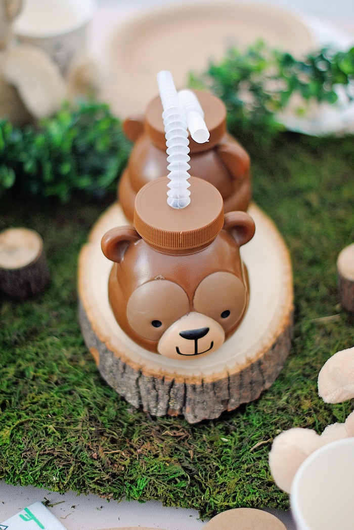 Teddy Bear Cup from a Woodland Teddy Bear Camping Party on Kara's Party Ideas | KarasPartyIdeas.com (14)