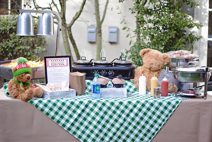 Food Table from a Woodland Teddy Bear Camping Party on Kara's Party Ideas | KarasPartyIdeas.com (7)