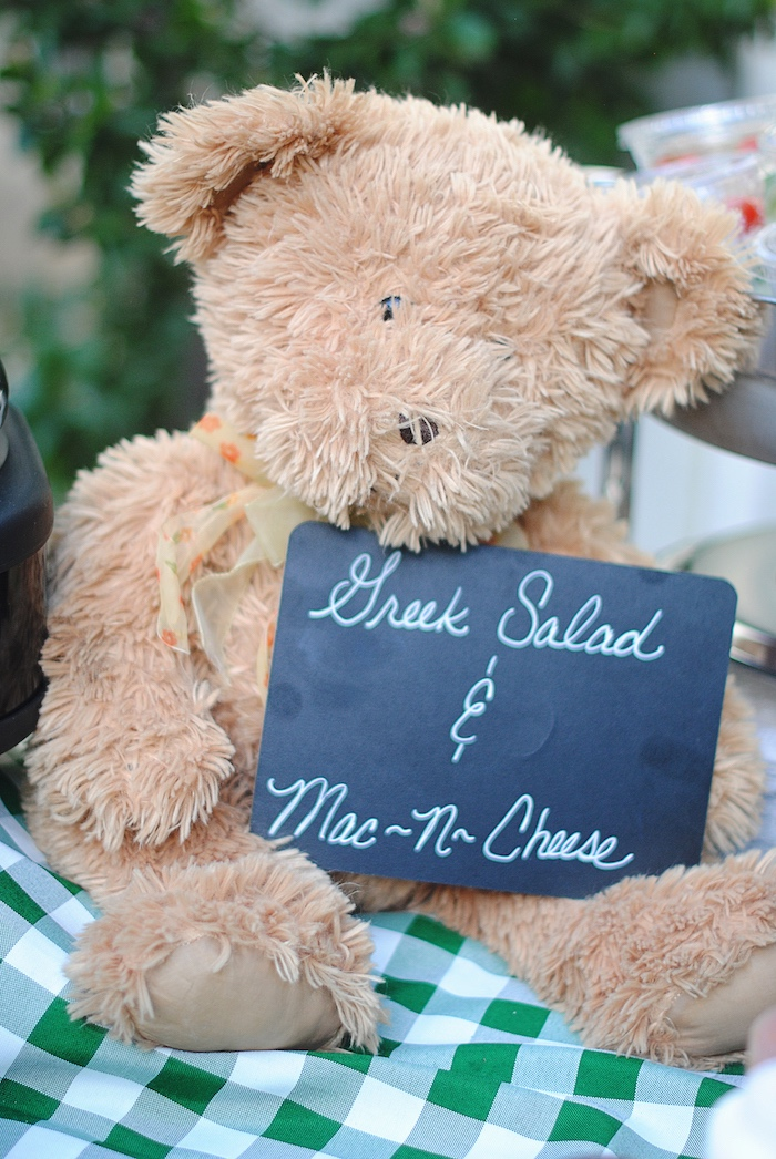 Teddy Bear Signage from a Woodland Teddy Bear Camping Party on Kara's Party Ideas | KarasPartyIdeas.com (6)