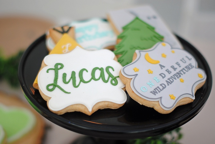 Custom Camping Cookies from a Woodland Teddy Bear Camping Party on Kara's Party Ideas | KarasPartyIdeas.com (21)