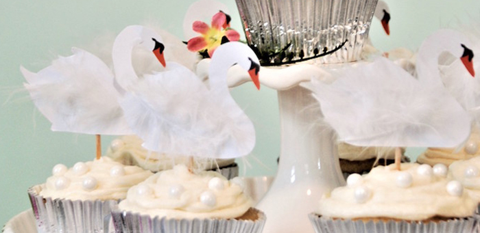 Spring Swan Birthday Party on Kara's Party Ideas | KarasPartyIdeas.com