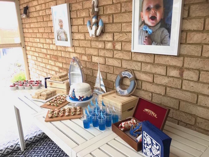 """Ahoy it's a Boy"" Nautical Party on Kara's Party Ideas 