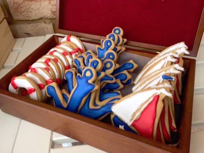 "Nautical Cookies from ""Ahoy it's a Boy"" Nautical Party on Kara's Party Ideas | KarasPartyIdeas.com (8)"