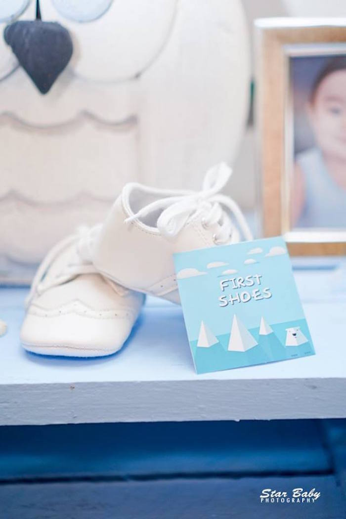 First Shoes from an Arctic Animal Birthday Party on Kara's Party Ideas | KarasPartyIdeas.com (16)