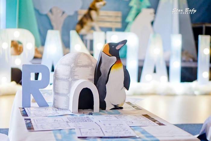 Penguin Party Table from an Arctic Animal Birthday Party on Kara's Party Ideas | KarasPartyIdeas.com (14)