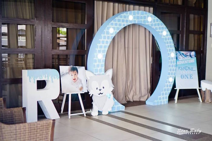 Arctic Themed Entrance Arch from an Arctic Animal Birthday Party on Kara's Party Ideas | KarasPartyIdeas.com (3)