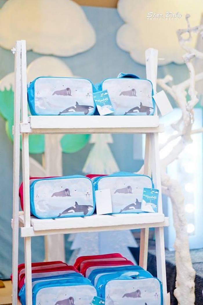 Arctic Lunch Box Favors from an Arctic Animal Birthday Party on Kara's Party Ideas | KarasPartyIdeas.com (2)