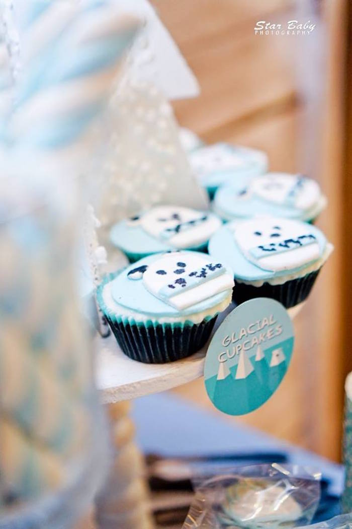 Glacial Cupcakes from an Arctic Animal Birthday Party on Kara's Party Ideas | KarasPartyIdeas.com (24)
