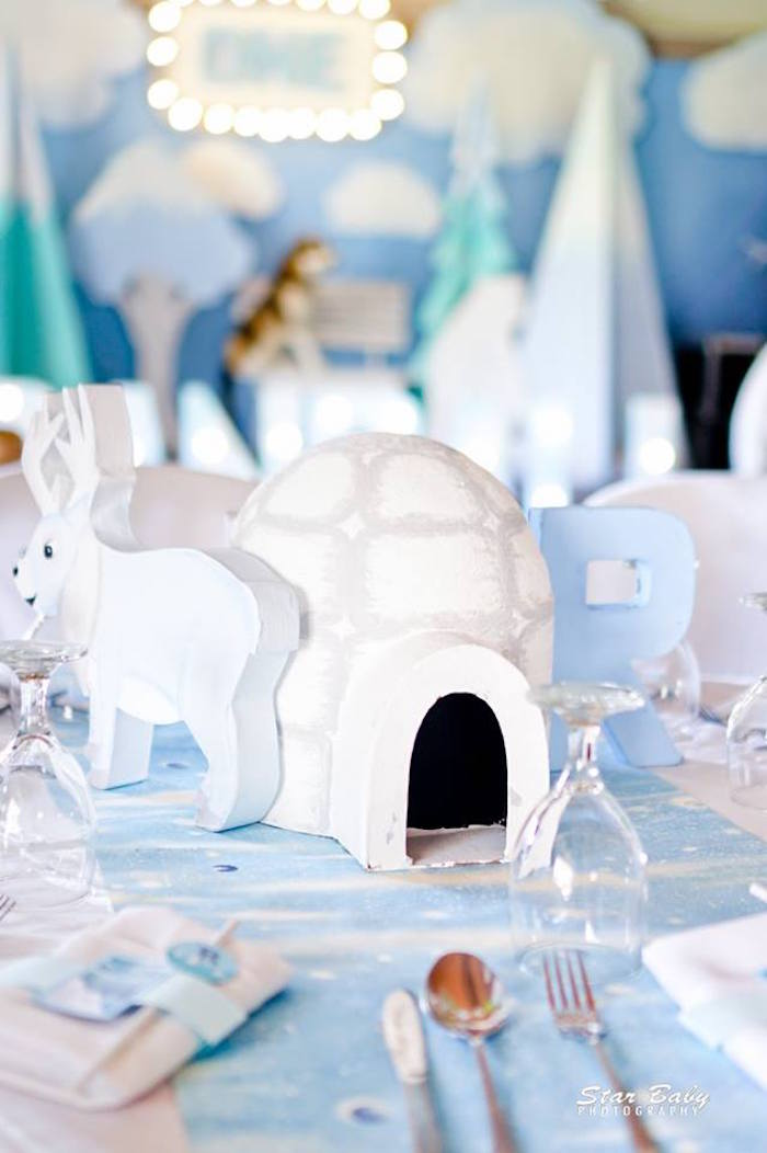 Arctic Table Centerpiece from an Arctic Animal Birthday Party on Kara's Party Ideas | KarasPartyIdeas.com (19)