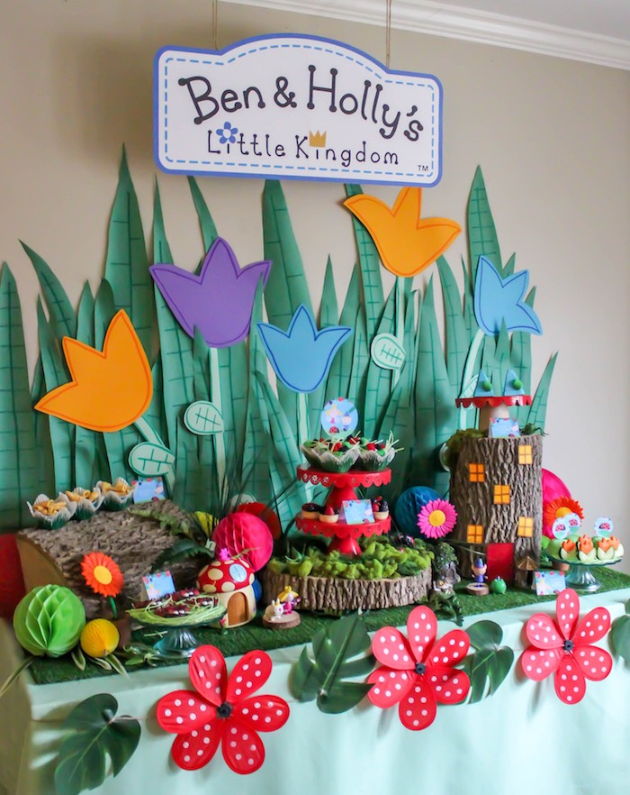 Kara\'s Party Ideas Ben & Holly\'s Little Kingdom Inspired Birthday ...