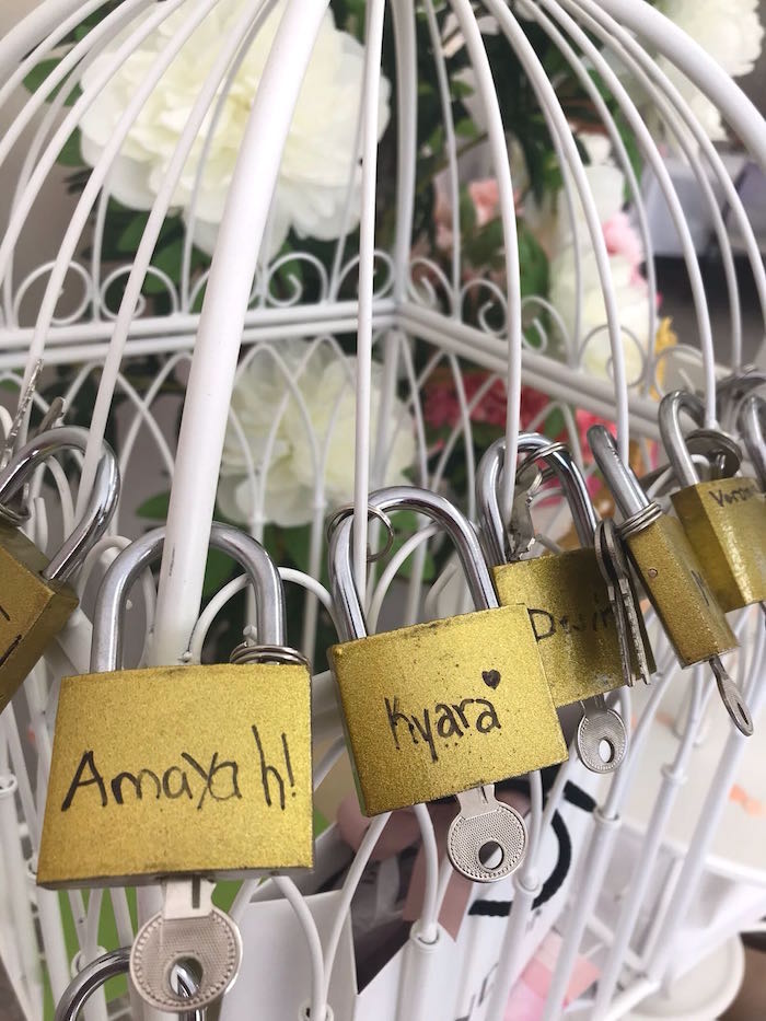 Personalized Locks and Keys from a Bonjour Paris Birthday Party on Kara's Party Ideas | KarasPartyIdeas.com (17)
