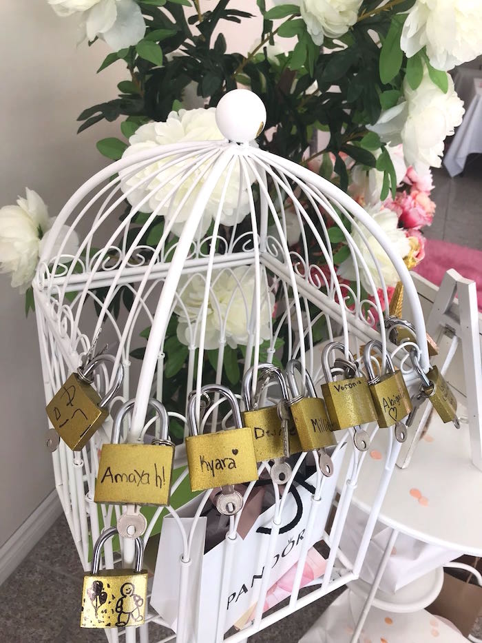 Personalized Locks and Keys from a Bonjour Paris Birthday Party on Kara's Party Ideas | KarasPartyIdeas.com (16)
