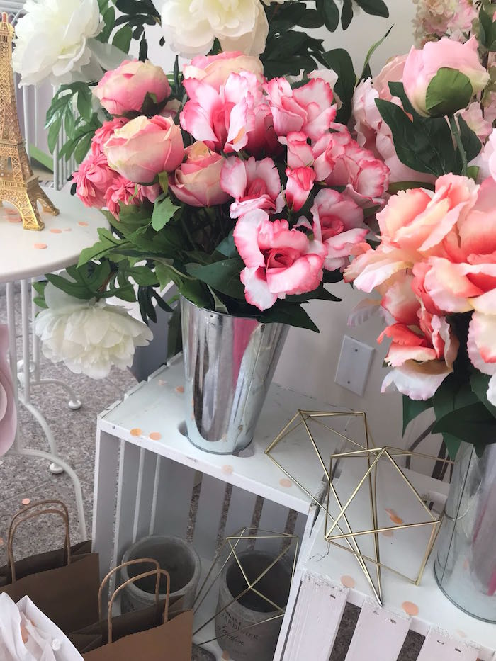 Blooms from a Bonjour Paris Birthday Party on Kara's Party Ideas | KarasPartyIdeas.com (15)