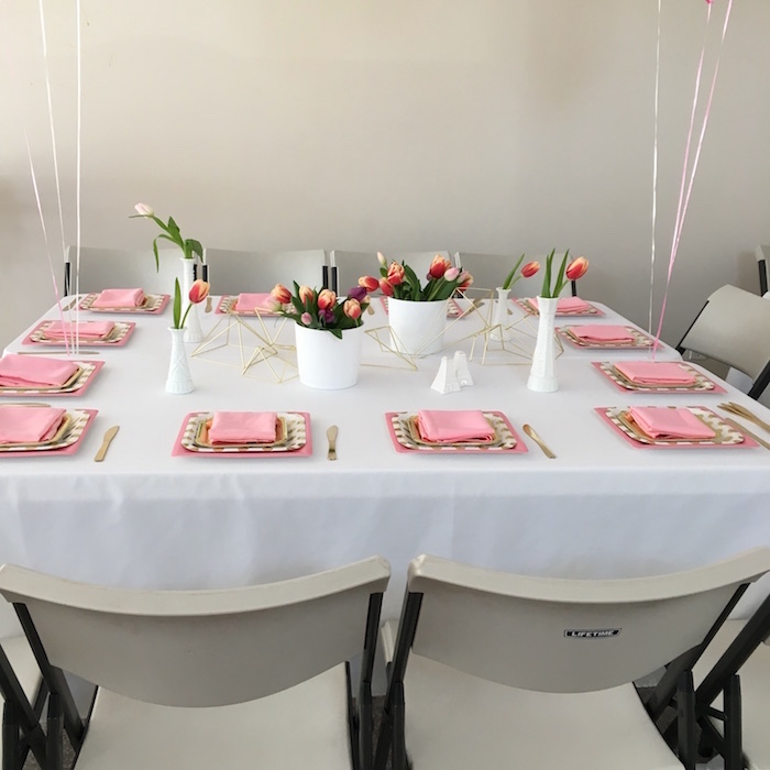 Guest Table from a Bonjour Paris Birthday Party on Kara's Party Ideas | KarasPartyIdeas.com (9)