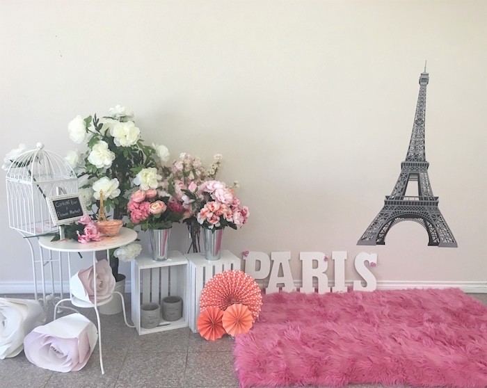 Parisian Photo Booth from a Bonjour Paris Birthday Party on Kara's Party Ideas | KarasPartyIdeas.com (25)