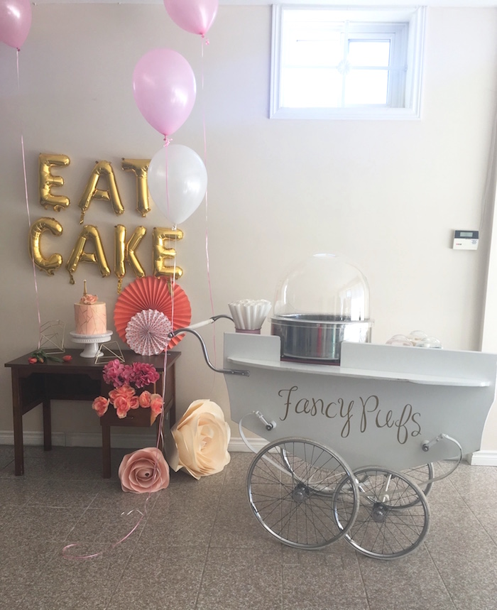 Eat Cake Party Table from a Bonjour Paris Birthday Party on Kara's Party Ideas | KarasPartyIdeas.com (23)