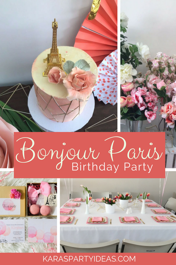 Bonjour Paris Birthday Party via KarasPartyIdeas - KarasPartyIdeas.com