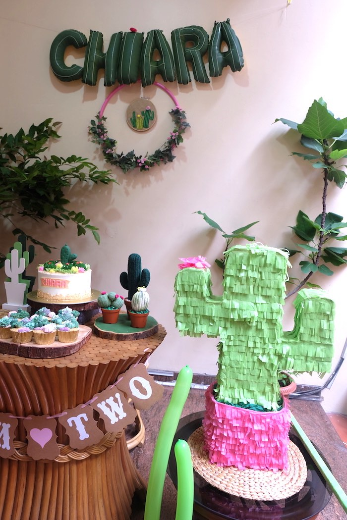 Cactus Garden Birthday Party on Kara's Party Ideas | KarasPartyIdeas.com (7)