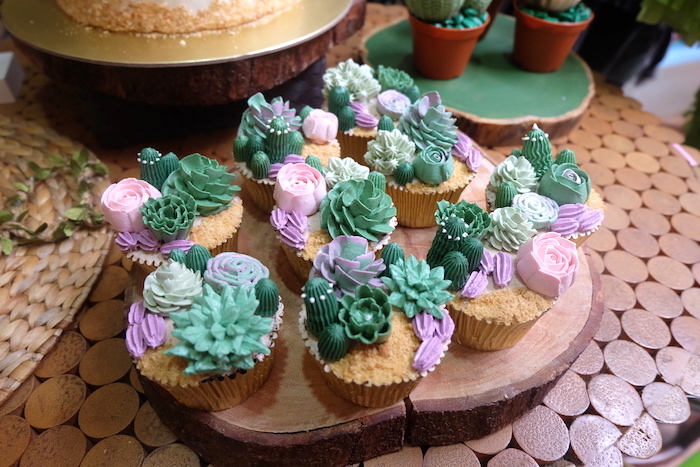 Cactus Cupcakes from a Cactus Garden Birthday Party on Kara's Party Ideas | KarasPartyIdeas.com (4)