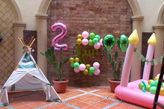 Cactus Party Decor from a Cactus Garden Birthday Party on Kara's Party Ideas | KarasPartyIdeas.com (17)
