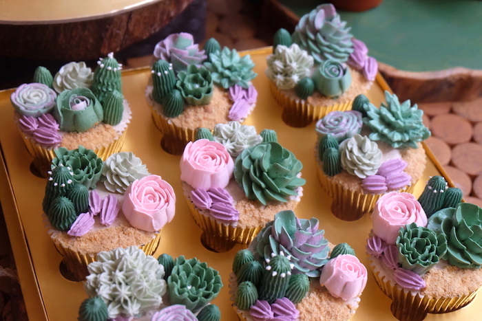 Cactus Cupcakes from a Cactus Garden Birthday Party on Kara's Party Ideas | KarasPartyIdeas.com (11)