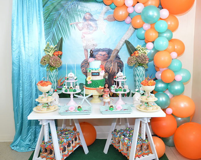 Chic Moana Birthday Party On Karas Ideas